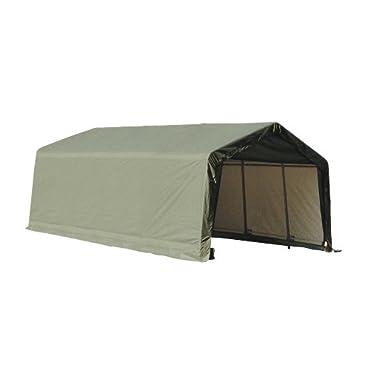 ShelterLogic 73442 Green 12'x20'x10' Peak Style Shelter