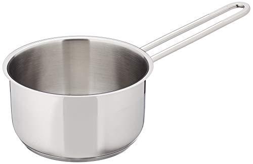 wenco Stielkasserolle, Ø 14 cm, 0,9 l, Induktionsgeeignet, Rostfreier Edelstahl, Silber, 536035