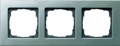 Gira 0213202 Abdeckrahmen 3-Fach Gira E22 Edelstahl