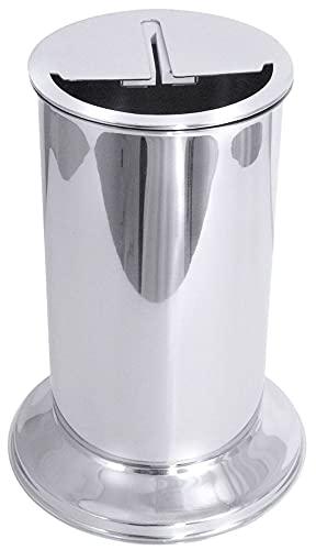 Contacto Messerabstreicher aus Edelstahl mit Aufsatz, 2300 ml, Höhe 30 cm, Gummi-Abstreichbacken