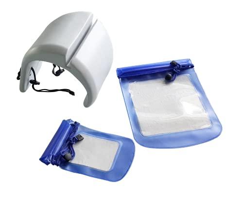SHATCHI Cojines inflables Impermeables de PVC/Dosel/baño de pies/generador de ozono/Almacenamiento de Bebidas/lámpara se Adapta a la mayoría de Accesorios de SPA para jacuzzis MSpa, Gris Claro
