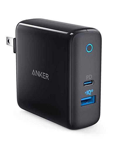 Anker PowerPort ll PD - 1 PD and 1 PowerIQ 2.0 (48W 2ポートUSB-A & USB-C 急速充電器)【PSE認証済/PowerIQ 2.0 / PD対応/折りたたみ式プラグ】iPhone 11 / 11 Pro / 11 Pro Max/XR / 8、MacBook Air、その他USB-C機器対応(ブラック)