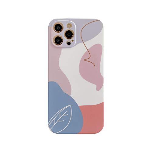 La nueva funda de teléfono floral púrpura y blanco para iPhone 12 11 Pro XS MAX XR X 7 8 Plus SE2020 suave lente IMD cubierta protectora trasera -J3-para iPhone XR