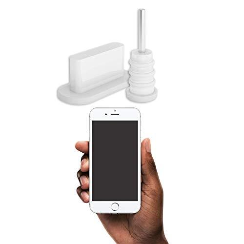 innoGadgets 10x Staubschutz Stöpsel kompatibel mit iPhone 5/6   Staubstecker, Schutz für Lightning Anschluss   Staubstöpsel aus Silikon - Transparent