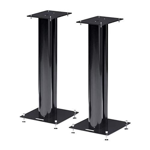 Norstone Lautsprecherständer Stylum, stabil aus Metall, bis 50kg belastbar, Paarpreis (Stylum 2 (60cm), Schwarz (matt))
