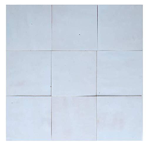Zellige blanco hadas 10 x 10 cm – 100 unidades