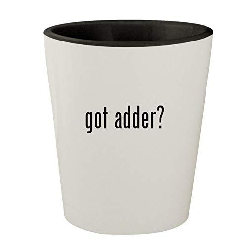 got adder? - White Outer & Black Inner Ceramic 1.5oz Shot Glass