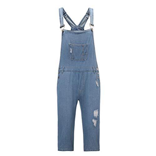 Nanxson Herren Latzhose Overall Jeans-Shorts mit Tashcen GZ0017 (Blau, XXL)