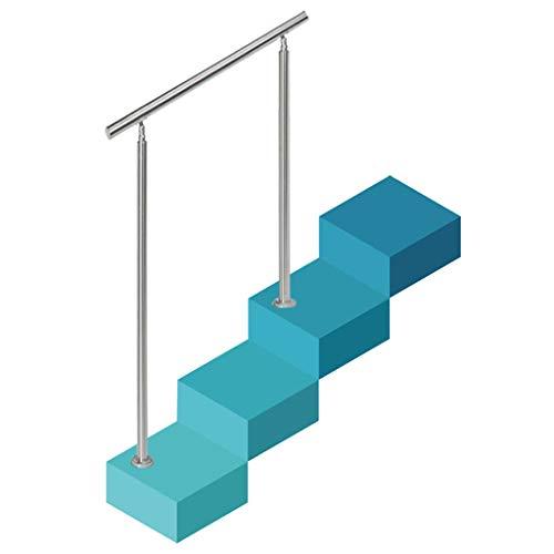 Barandilla de jardín, pasamanos de Escalera de Acero Inoxidable 304 Cepillado, para...
