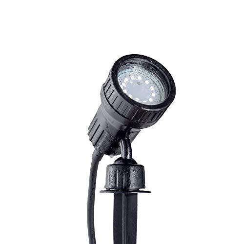 B.K.Licht I LED Gartenstrahler I Pflanzenstrahler inkl. 3W GU10 I 250Lm I 3.000K warmweiß I IP44 I schwenkbar I Außenleuchte I Wegbeleuchtung I Gartenbeleuchtung I Farbfilter I Schwarz