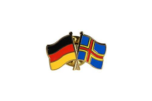 Flaggenfritze® Freundschaftspin Deutschland - Finnland Aland Inseln