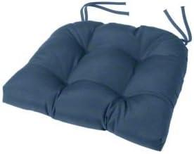 Amazon Com Cushion Source Tufted Chair Cushion 18 X 16 X 4 Chair Pad Indoor Outdoor Sunbrella Sapphire Blue 5452 0000 Home Kitchen