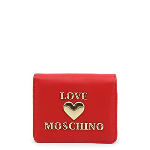 Love Moschino Precollezione FW20, Portafoglio da Donna in Pelle Sintetica PU Padded Shiny Heart, Borsa, Rosso, Normale