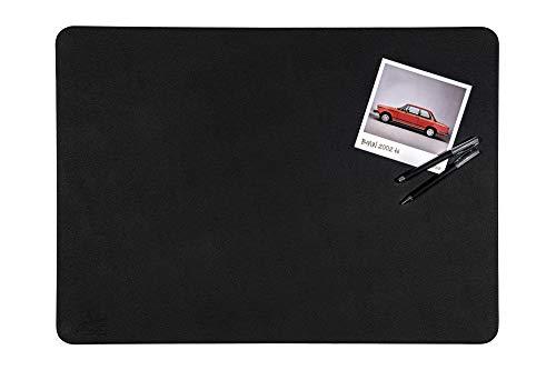 Centaur Schreibtischunterlagen 50x70 cm handgefertigt in Deutschland Schreibunterlage aus Leder Ecken abgerundet rutschfest schwarz weitere Farben & Größen