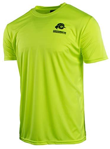 GUGGEN Mountain Herren Funktionsshirt Funktionswäsche Funktions T-Shirt Sport Outdoor Aktivitäten Schnelltrocknend Kurzarm Atmungsaktive Gelb L