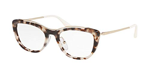 Prada 0PR 04VV Monturas de gafas, Spotted Opal Brown, 53 para Mujer