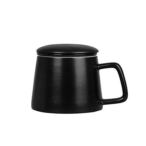 FanChose taza de te de ceramica con infusor y la tapa conjunto, a prueba de calor 325ml taza de te de ceramica con tapa y filtro para remojar te de las hojas infusor taza de la taza de te