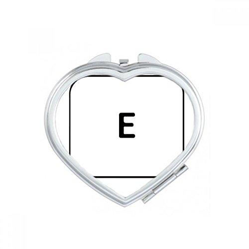 DIYthinker Clavier Symbole 9 0 et Support Ovale Maquillage Compact Miroir de Poche Miroirs Mignon Petit Cadeau Portable à la Main Multicolor