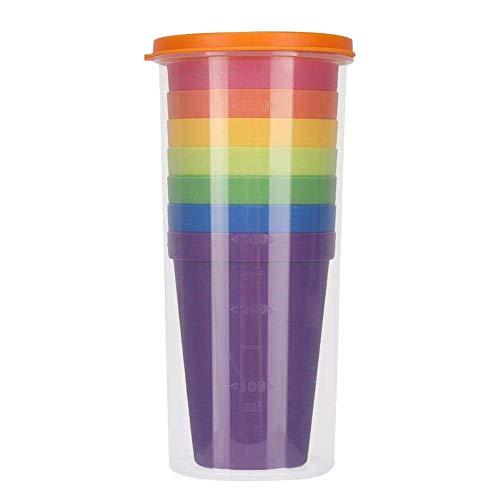Linian 8Pcs Vasos de Plástico, Ligera Taza Vajilla portátil 7 Vasos de...