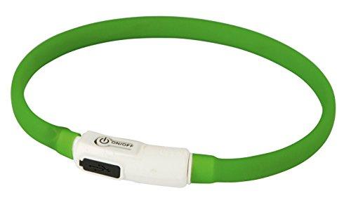 Kerbl 81603 Maxi Safe LED-Katzenhalsband, 35 cm, dunkelgrün