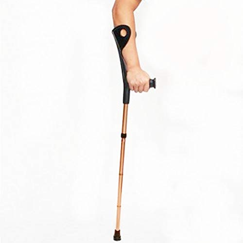 Lightweight Forearm Crutches Foldable Heavy Duty Ergonomic Gold Arm Crutches Forearm with Hand Grips for Adults