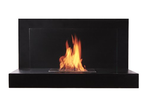 Affordable Bioflame Lotte 12,000BTU 13 Burner Stainless Steel Wall Mounted Fireplace