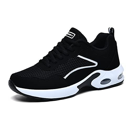 [yalasuo] ランニングシューズ レディーズ 軽量 スニーカー 厚底 エアライト スポーツシューズ 運動靴 履きやすい トレーニング ウォーキング ジョギング シューズ ホワイト 24cm