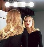 Luces de maquillaje recargables, luz LED de espejo con 4 bombillas LED para tocador de baño, tocador de mesa