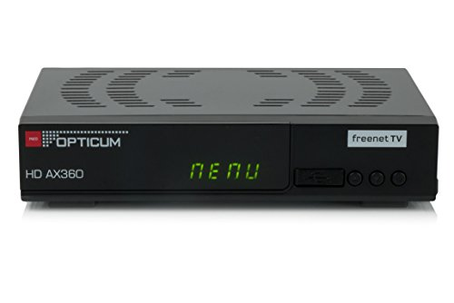 Opticum AX 360 Freenet TV Irdeto DVB-T2 HD H.265/HEVC Receiver schwarz