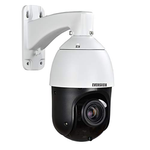 EVERSECU 2MP Auto-Cruise PTZ Security Camera 20X Optical Zoom HD 1080p 4-in-1 TVI/AHD/CVI/CVBS Video Surveillance- Pattern Scan, Waterproof, Night Vision, Coaxial Wired High Speed Dome CCTV Camera