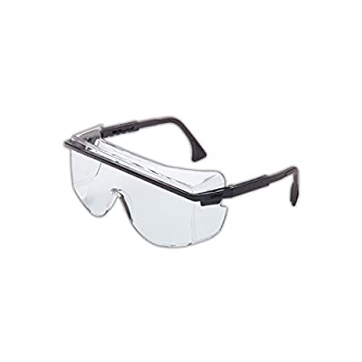 Uvex S2500C-01 Astro 3001 Safety Glasses Worn Over Prescription Glasses, Clear Lens