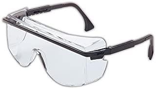 Uvex S2500C-01 Astro 3001 Safety Glasses Worn Over Prescription Glasses, Clear Lens