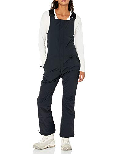 Amazon Essentials Women's Water-Resistant Full-Length Insulated Snow Bib, Black, X-Large
