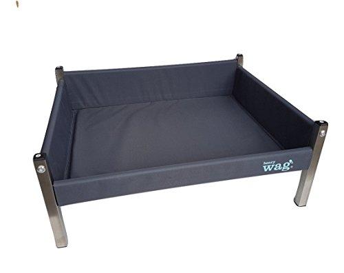 Henry Wag HWG0040 Elevated Dog Bett, grau/schwarz, 51 x 40 x 30 cm