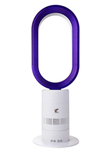 AB01 Bladeless Tower Fan, 26 Inches 9 Speeds & 9H Timer Table Fan, White Air Circulator Fan for Bedroom Office