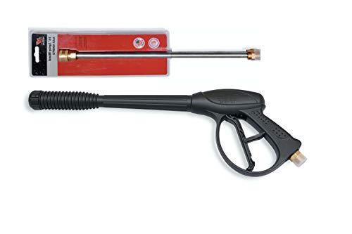 PEGGAS - Pressure Washer Spray Gun & 16 Inch Pressure Washer Wand - Power Washer Gun - Electric Pressure Washer Gun - Pressure Washer Accessories - M22-4000 PSI - Compatible with: Honda, Ryobi & More