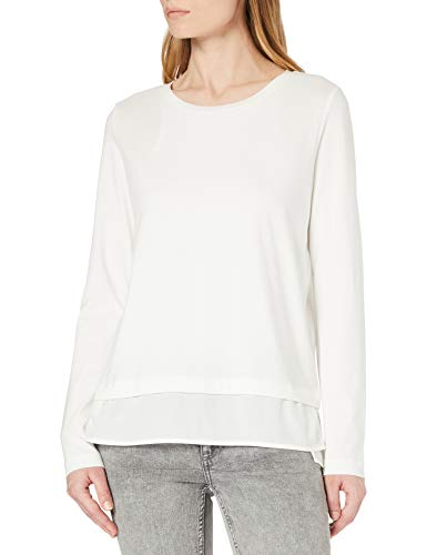 edc by Esprit 021cc1k307 T-Shirt, Bianco (110), XL Donna