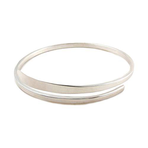 925 Sterling Silver Open Circle Bangle Bracelet