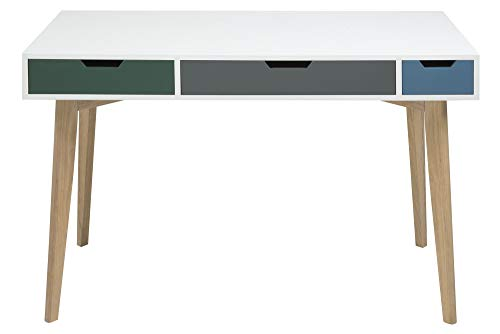 AC Design Furniture Tille Bureau en MDF Blanc 120 x 60 x 76 cm