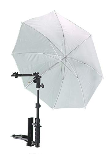 ALZO Flip Flash Bracket Umbrella Kit with Horizontal Bar, Black, Achieve Studio-Quality Images with Your Portable Flash Speedlight, for All DSLR Cameras