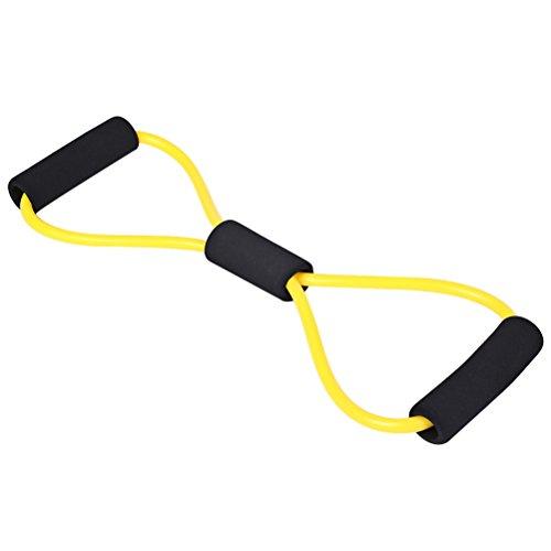 Clispeed Widerstandsband 8 Seil, elastisch, geformt, Seil zum Training zu Hause Fitness (gelb)