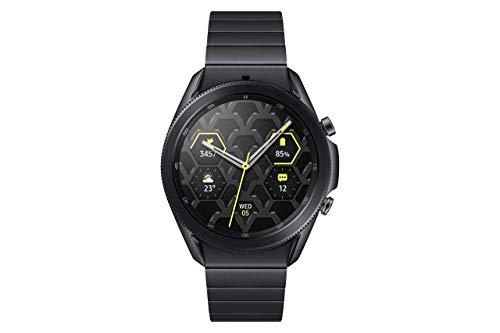 Samsung Galaxy Watch3, runde Bluetooth Smartwatch für Android, drehbare Lünette, 4G, Fitnessuhr, Fitness-Tracker, großes Display, 45 mm, Titanium, inkl. 36 Monate Herstellergarantie [Exkl. bei Amazon]