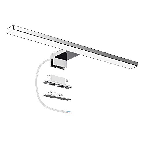 Lámpara LED de Espejo 10W 820LM 40mm Lámpara de Baño Azhien, Blanco Frio 6000K Lámpara LED de Pared IP44 230V Luz de Espejo de Baño de 40cm