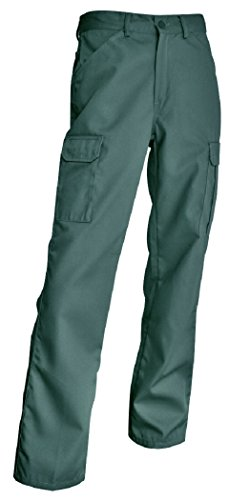 Smart workwear Hommes Pantalons de Travail Poches Multiples Drill KG Cargo (50, Green)