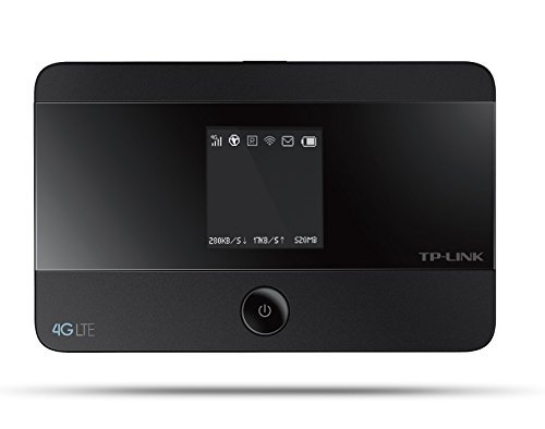 TP-Link M7350 mobiler 4G/LTE MiFi Dualband-WLAN-Router (LTE Cat.4 150Mbit/s, 2000mAh interner Akku, OLED-Display, SIM-Kartensteckplatz, microSD-Kartenslot) (Generalüberholt)