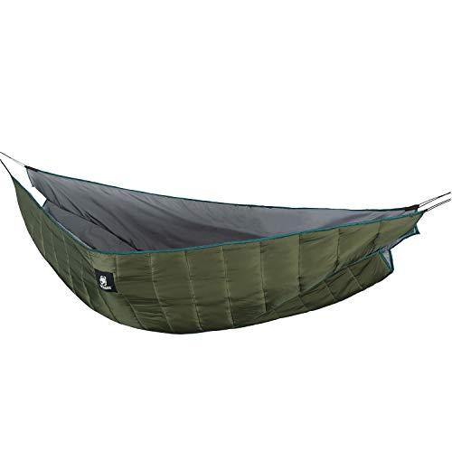 OneTigris Isomatten Underblanket für DoppeltHängematten Shield Cradle Pro Underquilt - 2 Personen, Winter Version MEHRWEG Verpackung (Armee Grün)