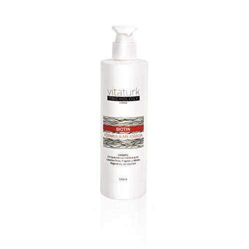 Vitaturk - BIOTIN haaruitval shampoo voor fijn, fragiel haar. Regenereert en geeft volume. Vooral geschikt voor vet haar VERVAARDIGD IN SPANJE |