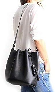 Bucket bag/Borsa a secchiello/borsa tracolla, in preziosa pelle di vitello stampata saffiano. Chiara Bucket bag
