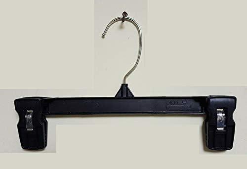 COZYMOOD Raleigh Mall Pinch Genuine Free Shipping Grip Bottom Hangers - Black Hang 10 inch. Plastic