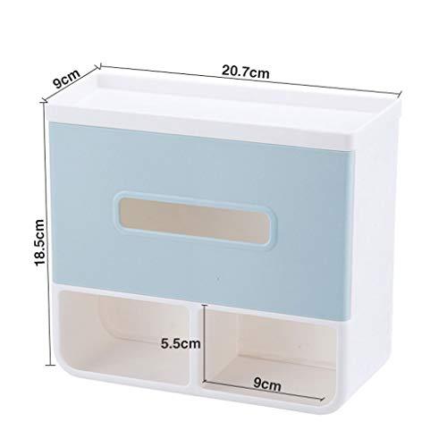 Soporte para papel higiénico Caja de pañuelos de baño Estante de perforación libre Soporte de papel higiénico impermeable Estante de almacenamiento creativo montado en la pared Portarrollos Papel Higi